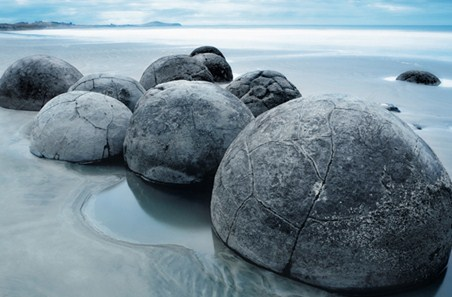 Beach Boulders - Moeraki Evening
