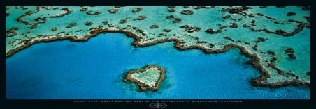 Heart Reef in The Great Barrier Reef - by Grant Faint