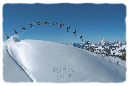 Inverted Cab 5 - Snowboarding