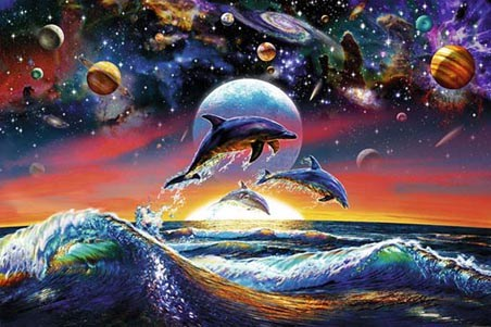 Dolphin Universe - Planets, Waves and Moonlight