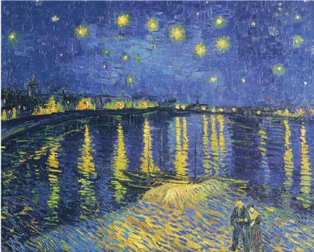 Starry Night over the Rhone - By Vincent Van Gogh