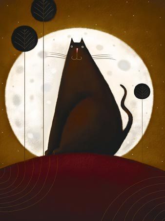 Cat and the Moon - Jo Parry