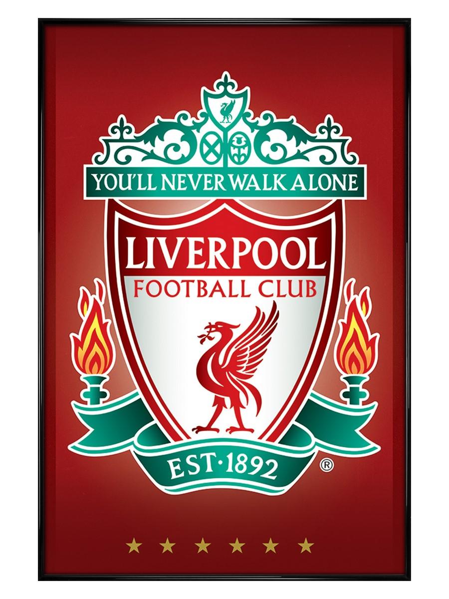 Gloss Black Framed Crest Liverpool Fc Poster Buy Online